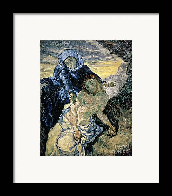 Pieta Framed Print featuring the painting Pieta by Vincent van Gogh
