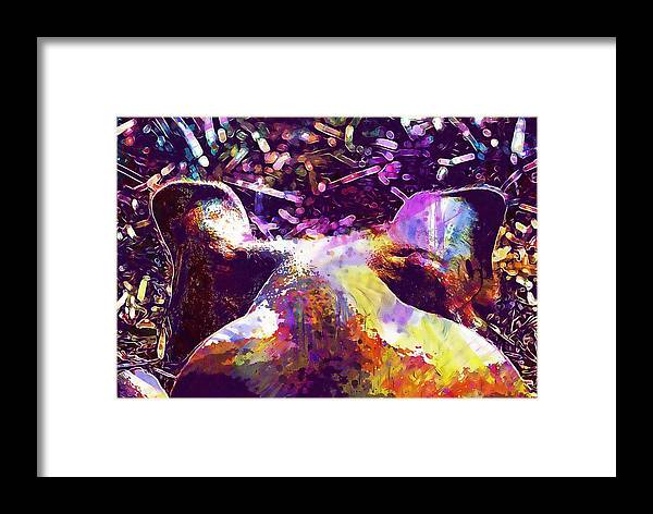 Pig Framed Print featuring the digital art Pig Hog Ears Head Animal Swine by PixBreak Art