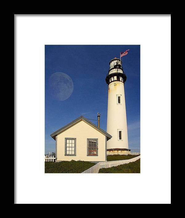 Lighthouse Framed Print featuring the photograph Pigeon Point Lighthouse by Wingsdomain Art and Photography