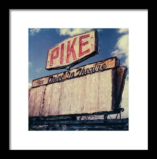 Polaroid Framed Print featuring the photograph Pike Drive-in by Steven Godfrey