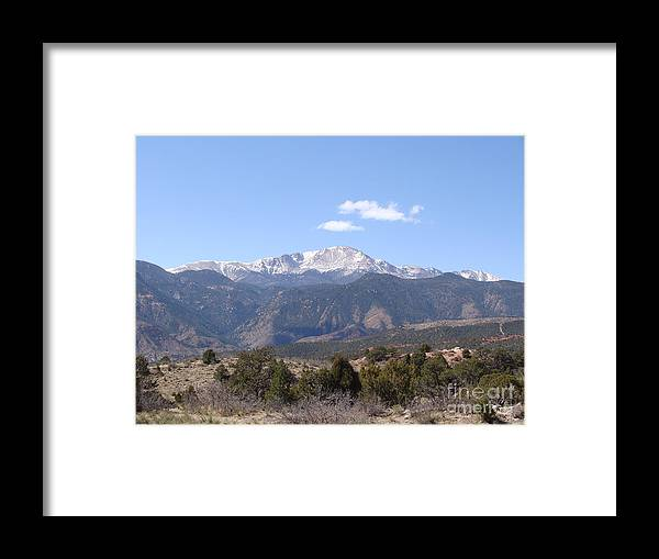 Colorado Framed Print featuring the photograph Pikes Peak Colorado One by Jack Norton