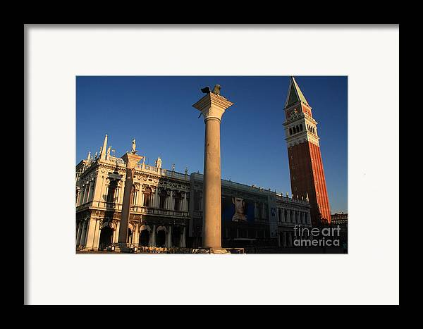 Venice Framed Print featuring the photograph Pillars And Bell Tower At San Marco In Venice by Michael Henderson