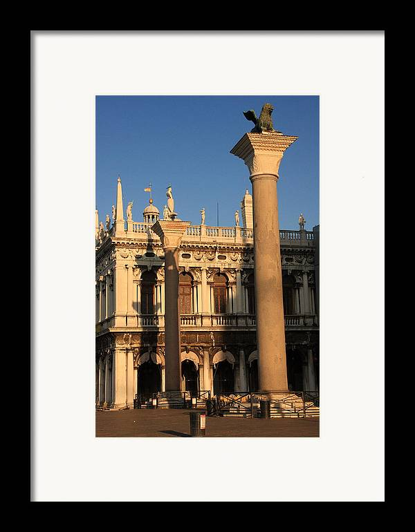 Venice Framed Print featuring the photograph Pillars At Piazzetta San Marco In Venice by Michael Henderson