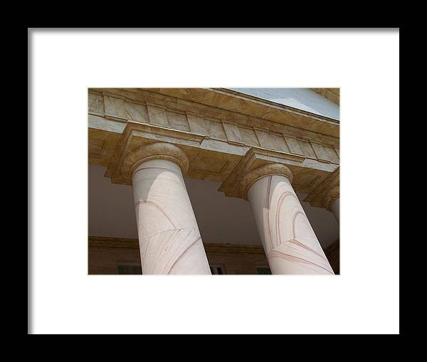 Pillars Framed Print featuring the photograph Pillars by Vijay Sharon Govender