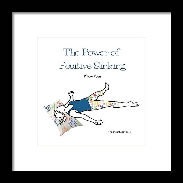 Yoga Art Framed Print featuring the digital art Pillow Pose by Patti And Lori