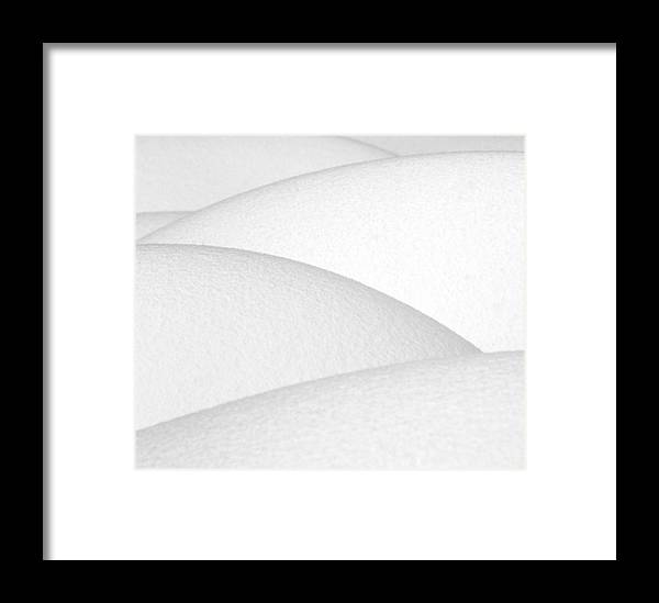 Snow Framed Print featuring the photograph Pillows O Snow by Karl Manteuffel