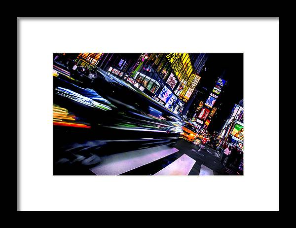 Times Square Framed Print featuring the photograph Pimp'n It by Az Jackson