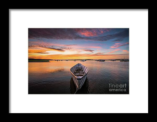 Attraction Framed Print featuring the photograph Pine Point Dory At Sunset by Benjamin Williamson
