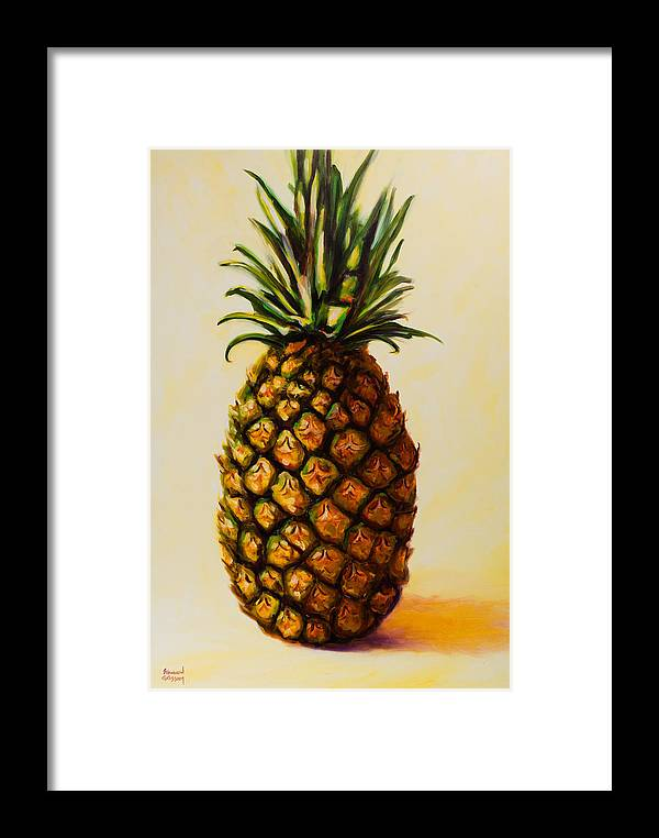 Pineapple Framed Print featuring the painting Pineapple Angel by Shannon Grissom