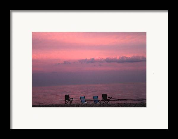 Coastal Framed Print featuring the photograph Pink And Deserted by Karol Livote