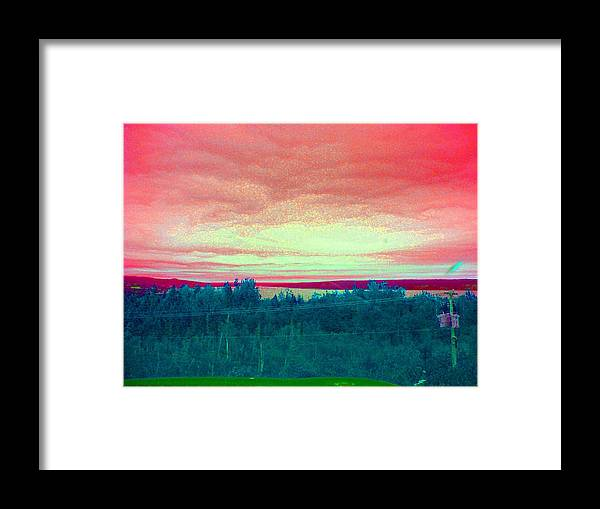 Skys Framed Print featuring the photograph Pink Clouds by Allison Prior