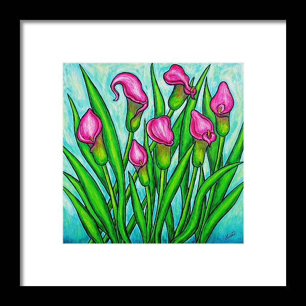 Lisa Lorenz Framed Print featuring the painting Pink Ladies by Lisa Lorenz
