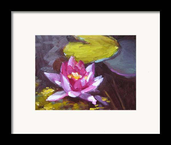 Lily Framed Print featuring the painting Pink Lily by Susan Jenkins