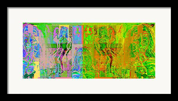 Human Composition Framed Print featuring the painting Pink Lounge II by Noredin Morgan