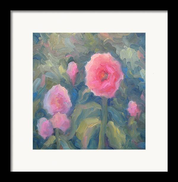 Pink Framed Print featuring the painting Pink Makes Everything Better by Bunny Oliver