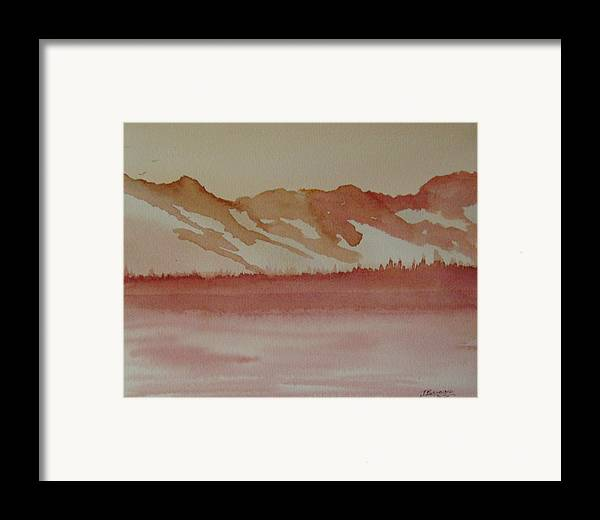 Mountains Framed Print featuring the painting Pink Mountains by Dottie Briggs