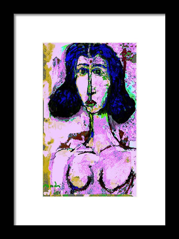 Pink Framed Print featuring the painting Pink by Noredin Morgan