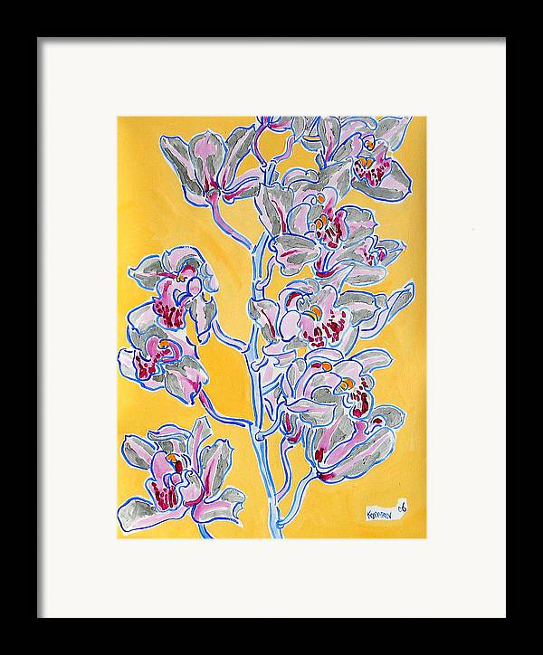Orchid Framed Print featuring the painting Pink Orchid by Vitali Komarov