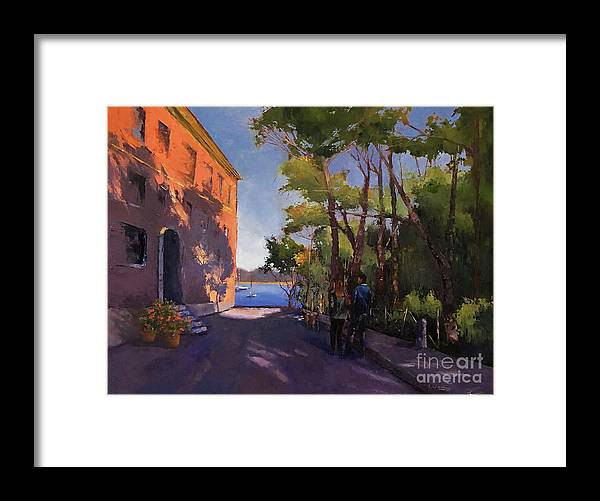 Oilpainting Framed Print featuring the painting Pink Palazzo by Leah Wiedemer