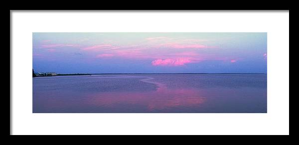Sunset Framed Print featuring the photograph Pink Path by Ian MacDonald
