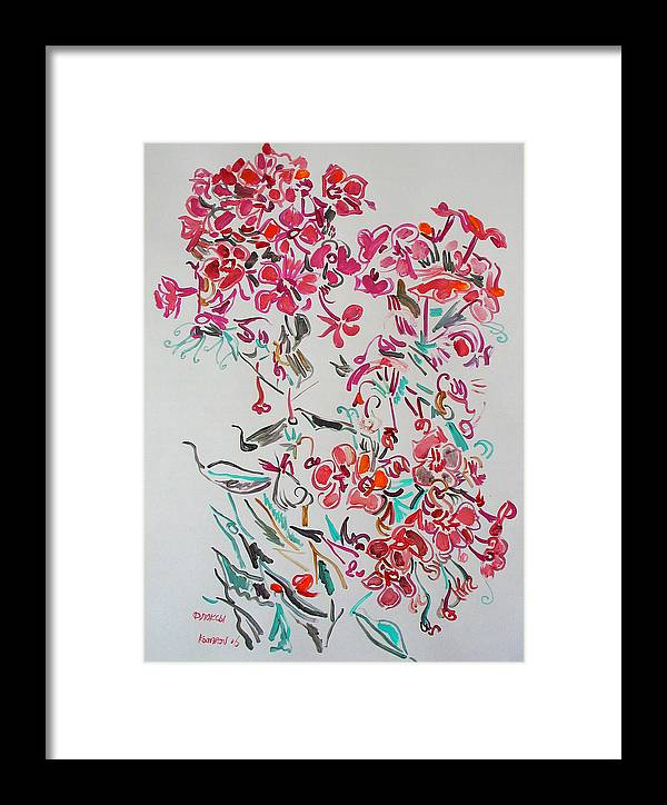 Phlox Framed Print featuring the painting Pink Phloxes by Vitali Komarov