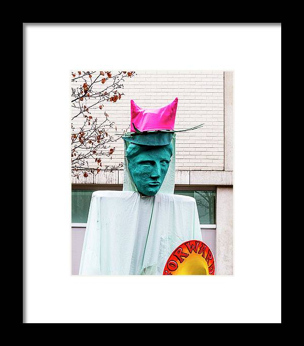 3089a7458149b Cap Framed Print featuring the photograph Pink Pussy Hat - Women s March