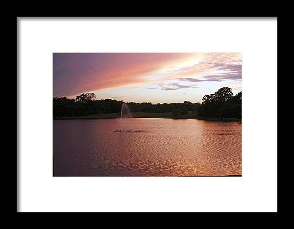 Sunset Framed Print featuring the photograph Pink Reflections by Melissa Millsap-Young