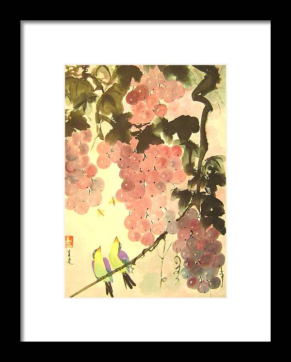 Water Colour Framed Print featuring the painting Pink Romance by Lian Zhen