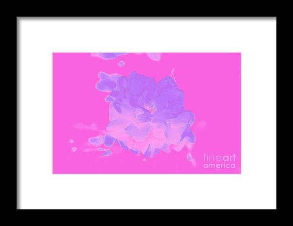 Abstract Framed Print featuring the digital art Pink Rose Abstract by Susan Stevenson