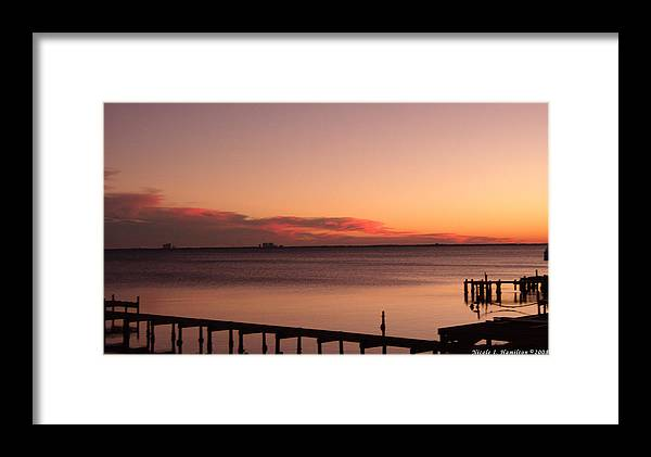 Sky Framed Print featuring the photograph Pink Skyline by Nicole I Hamilton