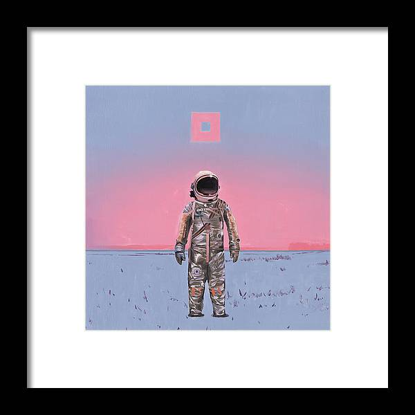 Space Framed Print featuring the painting Pink Square by Scott Listfield