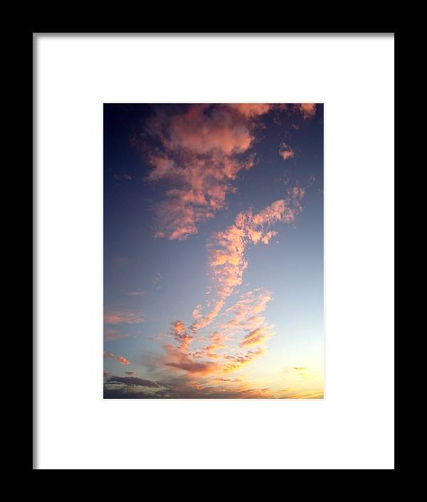 Pink Framed Print featuring the photograph Pink Sunset One by Ana Villaronga