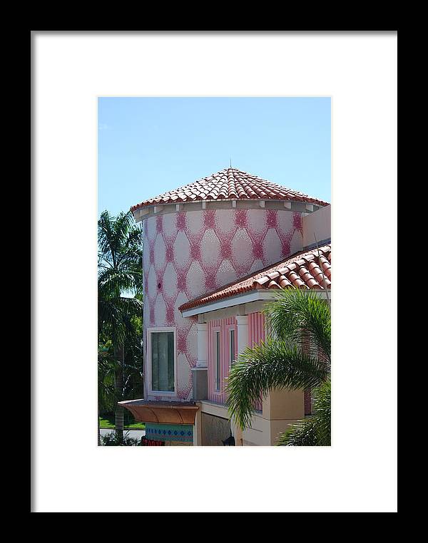 Architecture Framed Print featuring the photograph Pink Tower by Rob Hans