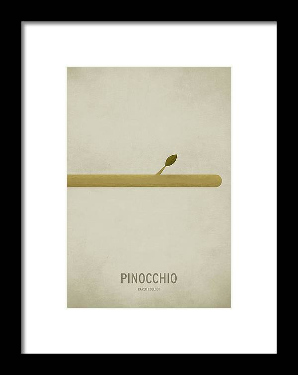 Stories Digital Art Framed Print featuring the digital art Pinocchio by Christian Jackson