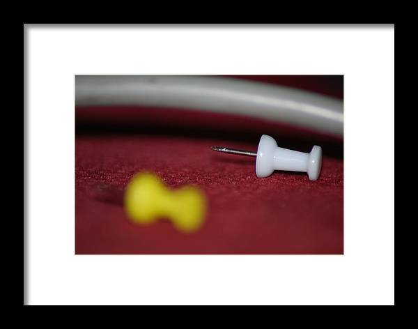 Pins Matte Framed Print featuring the photograph Pins by Kleon Modero