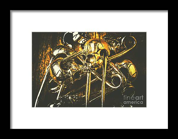 Scary Framed Print featuring the photograph Pins Of Horror Fashion by Jorgo Photography - Wall Art Gallery