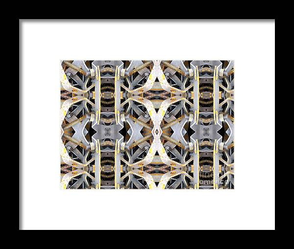 Abstract Framed Print featuring the digital art Pipe Hanger by Ron Bissett