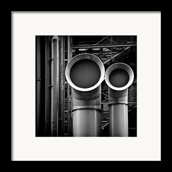 Industry Framed Print featuring the photograph Pipes by Dave Bowman