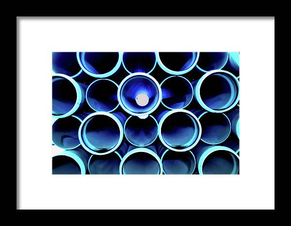 Pipes Framed Print featuring the photograph Pipes by Ken Norcross