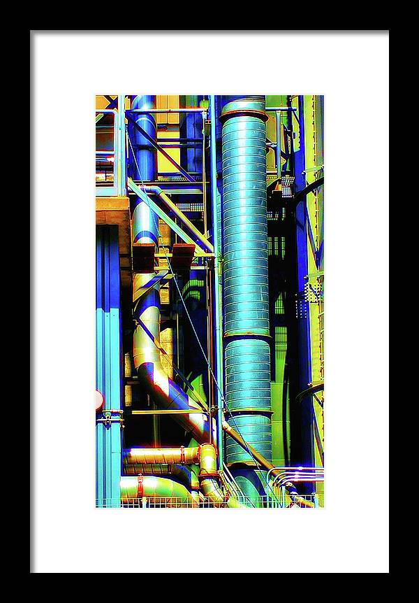 Newel Hunter Framed Print featuring the photograph Pipes by Newel Hunter