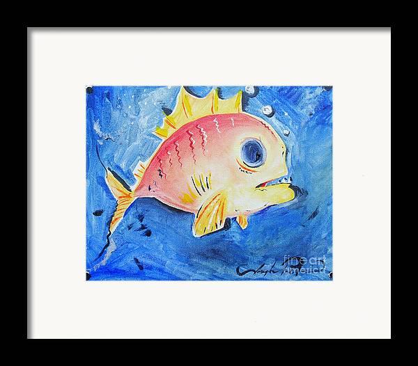 Fish Framed Print featuring the painting Piranha Art by Joseph Palotas