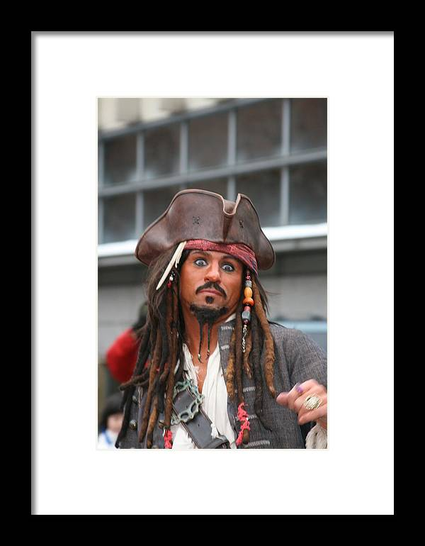 Framed Print featuring the photograph Pirate by Laurie Prentice