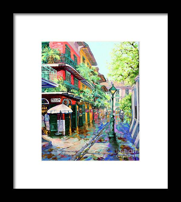 New Orleans Art Framed Print featuring the painting Pirates Alley - French Quarter Alley by Dianne Parks