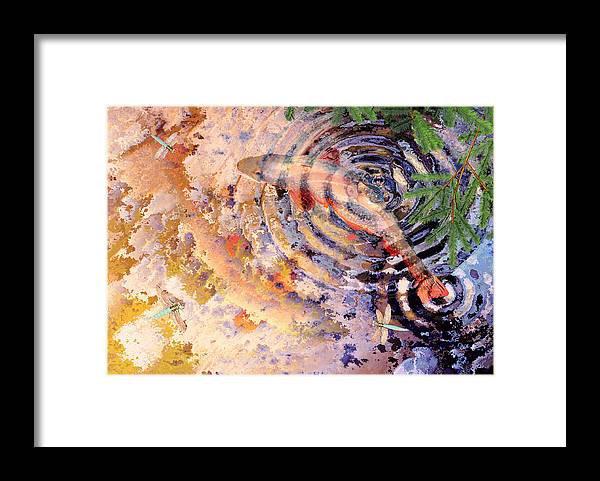 Pond Framed Print featuring the painting Pisces by Peter J Sucy