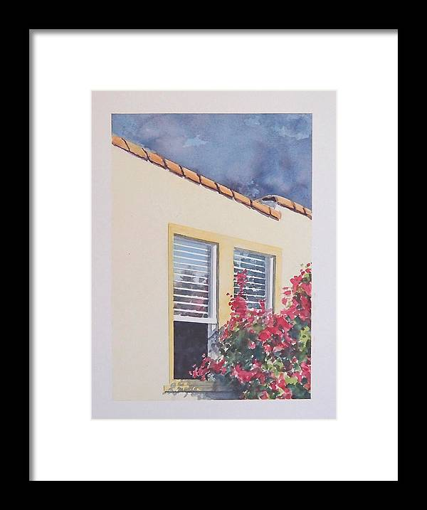 Cottage Framed Print featuring the painting Pismo Cottage by Philip Fleischer
