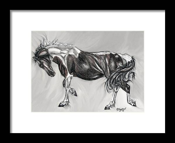 Pistol Framed Print featuring the drawing Pistol by Crystal Suppes