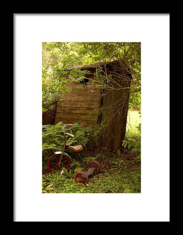 Outhouses Framed Print featuring the photograph Pit Stop by Linda McRae