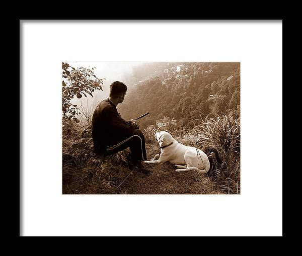 Dog Framed Print featuring the photograph Piton And Bruno by Padamvir Singh