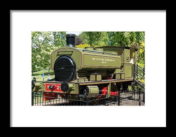 Dunfermline Framed Print featuring the photograph Pittencrieff Park Engine by Rod Jones