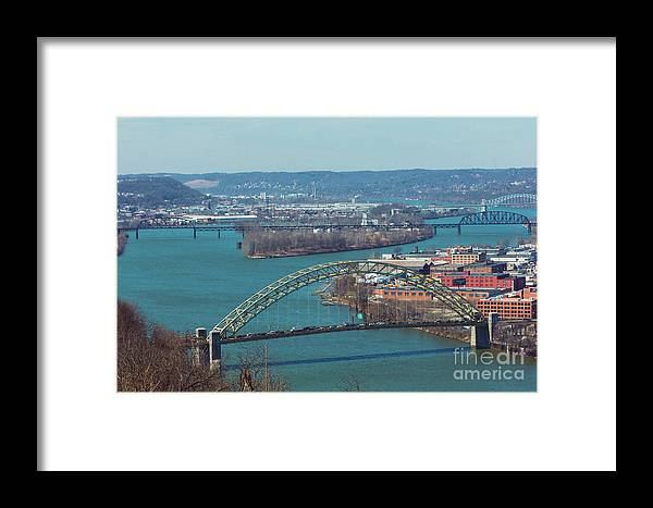 Cityscape Framed Print featuring the photograph Pittsburg City Skyline by Maxwell Dziku